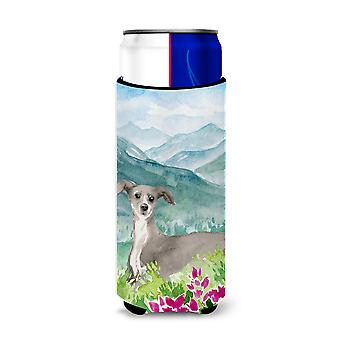 Mountian Flowers Italian Greyhound Michelob Ultra Hugger for slim cans