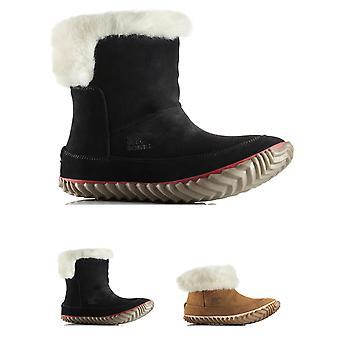 سوريل المرأة خارج ن حول Bootie جلدية الثلج ماء المطر الحذاء الكاحل