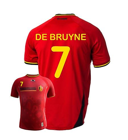 2014-15 Belgien World Cup Home Shirt (De Bruyne 7)