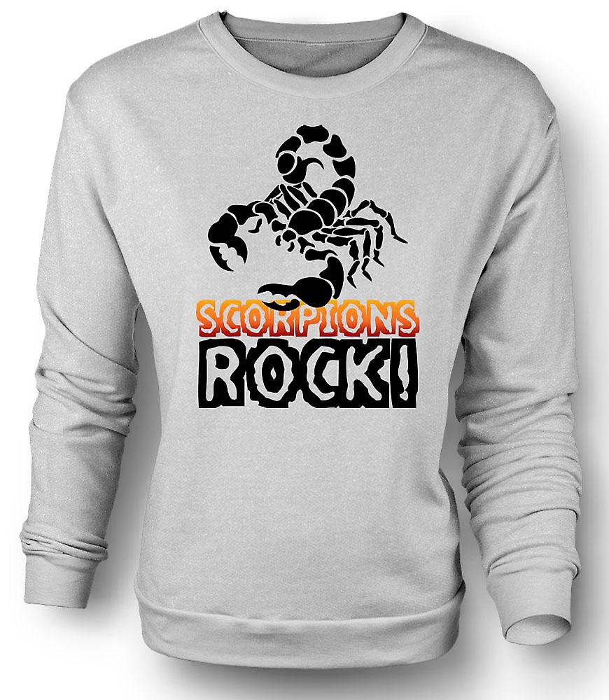 Mens Sweatshirt Scorpions Rock