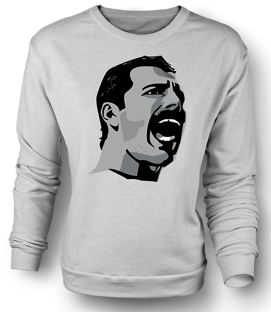 Herren Sweatshirt Freddie Mercury Pop Art Portrait