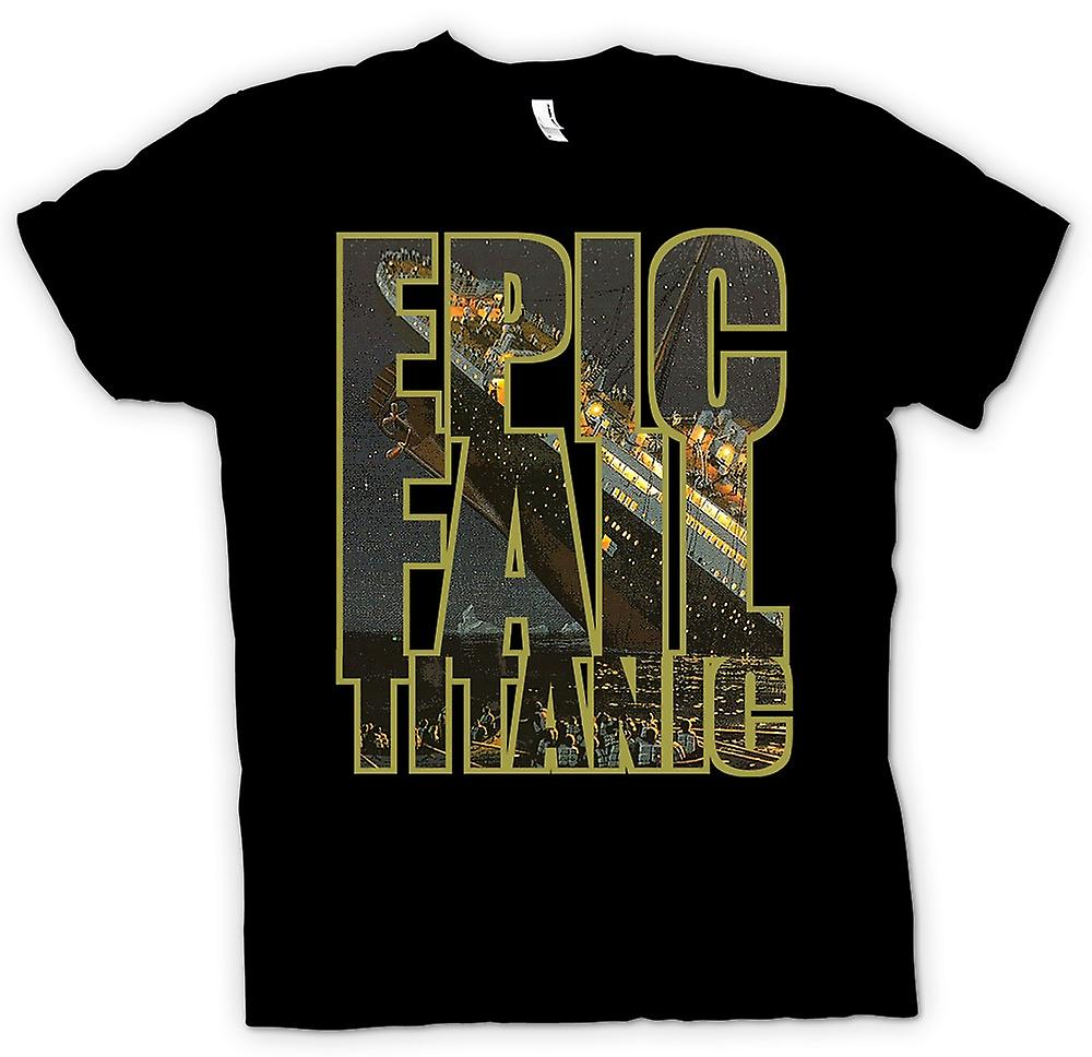 Kids T-shirt - Epic Fail Titanic - grappig