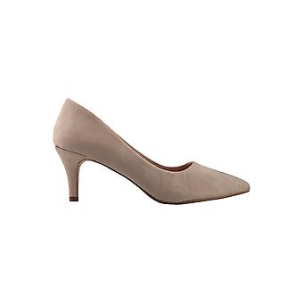 KRISP Suedette Pointed Kitten Heel Courts