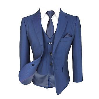 Jongens allemaal in één blauwe pak, donkerblauw