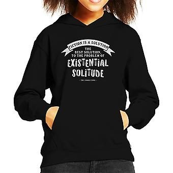 The Corrections Fiction Is A Solution Quote Kid's Hooded Sweatshirt