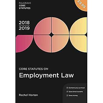 Core säännöt työllisyys lain 2018-19 (Palgrave Core perussääntö)