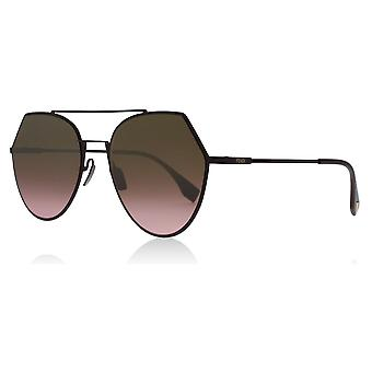Fendi FF0194/S 0T7 Plum FF0194/S Round Sunglasses Lens Category 2 Lens Mirrored Size 55mm