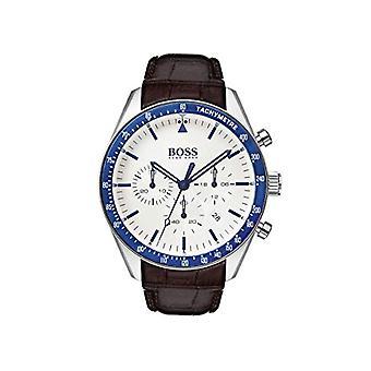 Hugo Boss chronograf kwarcowy zegarek ze skórzanym paskiem 1513629