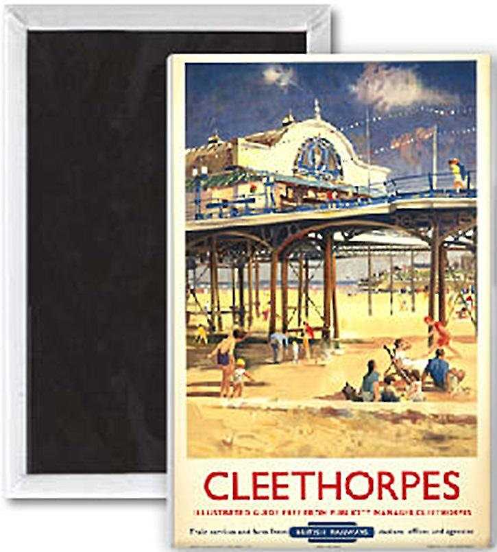 Cleethorpes Pier (old rail ad.) fridge magnet   (se)