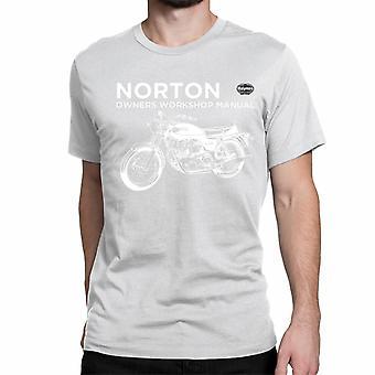 Officiële Haynes handmatige T-shirt Unisex Norton 750 Commando werkplaats handboeken
