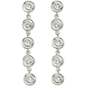 Beginnings Textured Swirl Disc Earrings - Silver