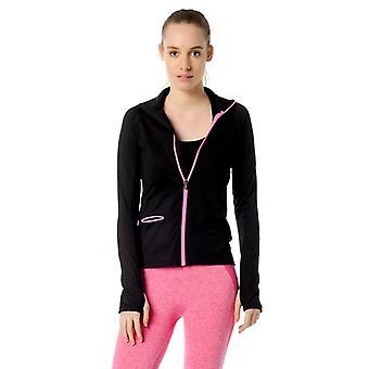 Jerf- Womens-ibiza -black- Active Jacket