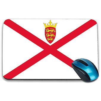 i-Tronixs - Bailwick of Jersey Flag Printed Design Non-Slip Rectangular Mouse Mat for Office / Home / Gaming - 0220