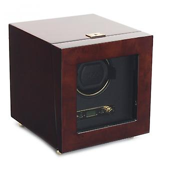 Wolf Designs Savoy Burlwood & Gold Single Watch Winder 2.7