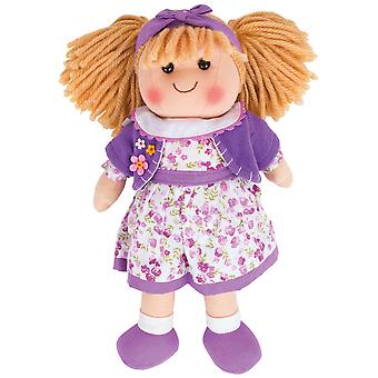 Bigjigs Toys Soft Plush Kelly (34cm) Doll Ragdoll Cuddly Toy