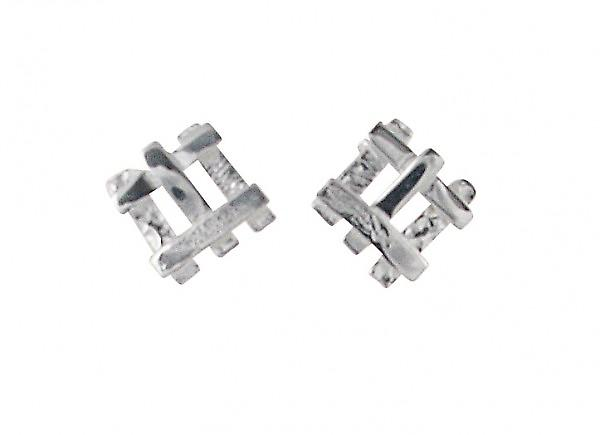 Cavendish French Crosspatch Silver Earrings