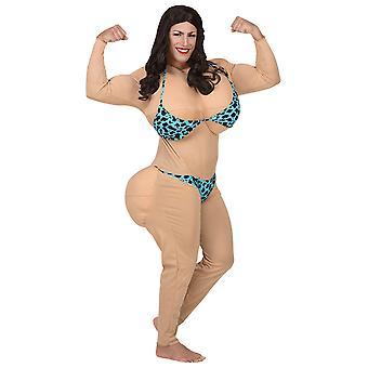 Fröken bikini (overaller W/överdimensionerade bröst & butt, Bikini)