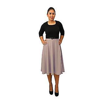 DBG kvinners tre kvart ermer rundt halsen polyester kjole
