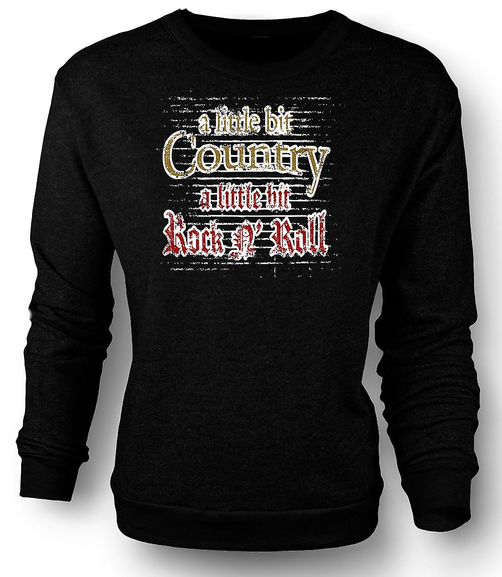 Mens Sweatshirt litt landet Rock n roll
