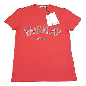 Lacoste Women's FairPlay Short Sleeved Cotton T-Shirt