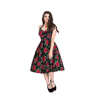 Hell Bunny Black & Red Cannes 50s Dress S