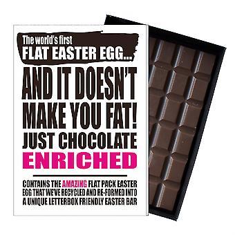 Lustige flache Ostern Ei Schokolade Bar Grußkarte Geschenk Frauen Freundin Frau UK EIYF138