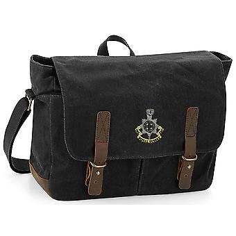 Royal Sussex Regiment - Licensed British Army Embroidered Waxed Canvas Messenger Bag