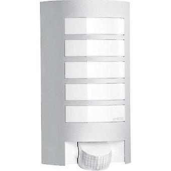 Outdoor wall light (+ motion detector) Energy-saving bulb, LED E27 60 W Steinel L12 657918 Aluminium