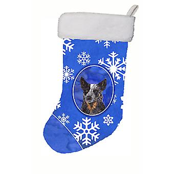 Australian Cattle Dog Winter Snowflakes Christmas Stocking SC9396