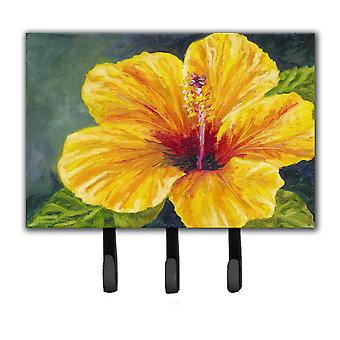 Yellow Hibiscus by Malenda Trick Leash or Key Holder TMTR0321TH68