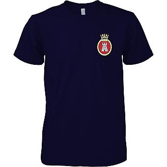 HMS Newcastle - buque desarmado de la Marina Real t-shirt color