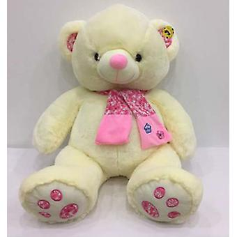 Import White Bear With Scarf 50 Cm