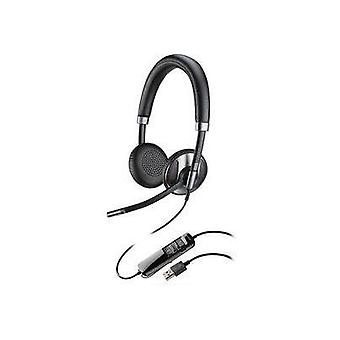 Phone headset USB Corded Plantronics On-ear Black
