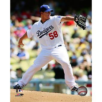 Chad Billingsley 2011 Action Photo Print