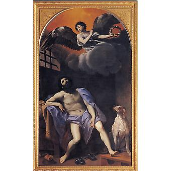 Reni Guido St Roch In Prison 1617 - 1618 17Th Century Oil On Canvas Italy Emilia Romagna Modena Estense Gallery Everett CollectionMondadori Portfolio Poster Print