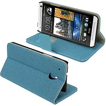 Cell phone case cover case (flip cross) for mobile HTC one blue mini M4