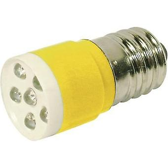LED bulb E14 Yellow 24 Vdc, 24 Vac 1050 mcd CML