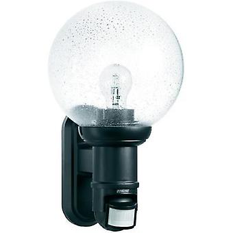 Outdoor wall light (+ motion detector) Energy-saving bulb, LED E27 60 W Steinel L 560 S 634216 Black