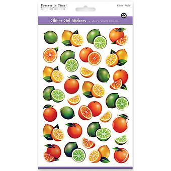 MultiCraft 3D Glitter Gel Stickers-Citrus SS056E