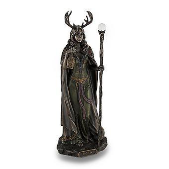 Elen of the Ways Bronze Finish Statue Pagan Goddess