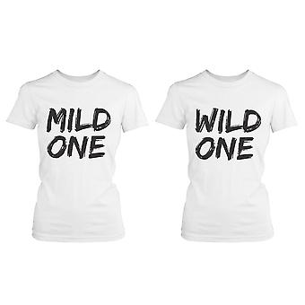Cute Best Friend T Shirts - Mild One and Wild One - Funny BFF Matching Shirts
