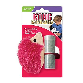 Kong Cat Refillable Catnip Bright Hedgehog
