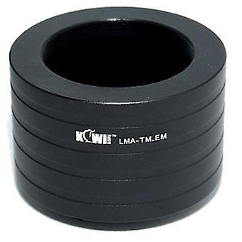 Kiwifotos Lens Mount Adapter: Kan T-Mount objektiver (teleskoper, mikroskoper, forstørrelses, belger enheter etc.) som skal brukes på alle Sony E-Mount kameraet kroppen - NEX-3, NEX-5, NEX-5N, NEX-7, NEX-C3