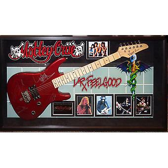 Motley Crue Signed Guitar Dr. Feelgood Custom Framed