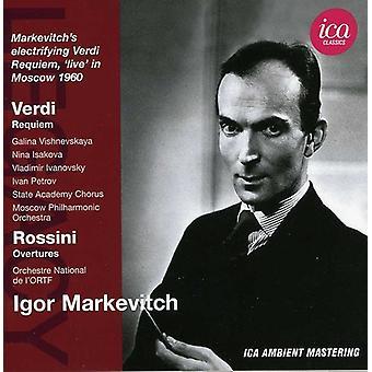 Verdi/Rossini - Verdi: Requiem; Rossini: Tilnærmelser [CD] USA importerer