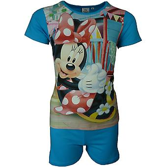 Disney Minnie Mouse Girls Short Sleeve Pyjamas Set
