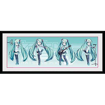 Hatsune Miku Hatsune Chibi indrammet Collector Print