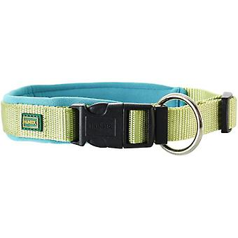 Hunter Collar Neopren Vario Plus de nylon para perros color verde claro