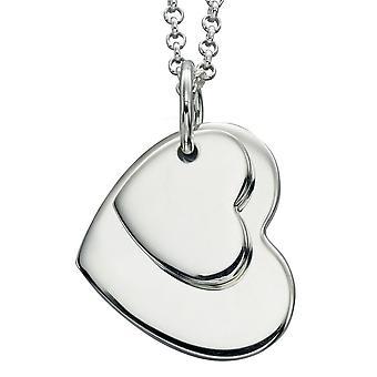 Collana cuori gemelli alla moda argento 925
