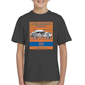 Haynes Workshop Manual 0084 VW 1600 Fastback Stripe Kid's T-Shirt